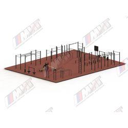 Спортивная площадка для WORKOUT №3 (оборудование для Воркаута на хомутах)