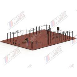 Спортивная площадка для WORKOUT №3 (цельно-сварное оборудование)