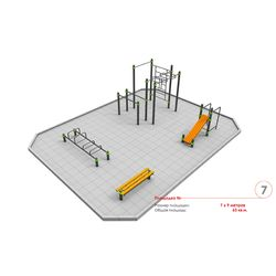 Площадка Воркаут 7 х 9м (Вариант 2)