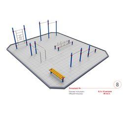 Площадка Воркаут 8,5 х 10м (Вариант 2)